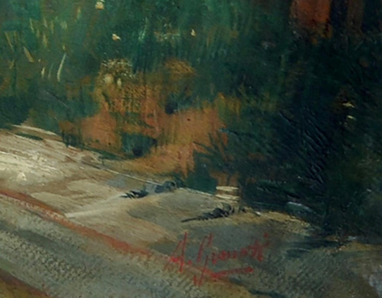SERENADE - Italian figurative oil on canvas painting, Angelo Granati For Sale 2