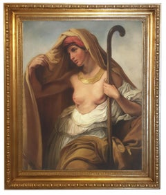 Tamara - Angelo Granati Italian Oil on Canvas Figurative Painting