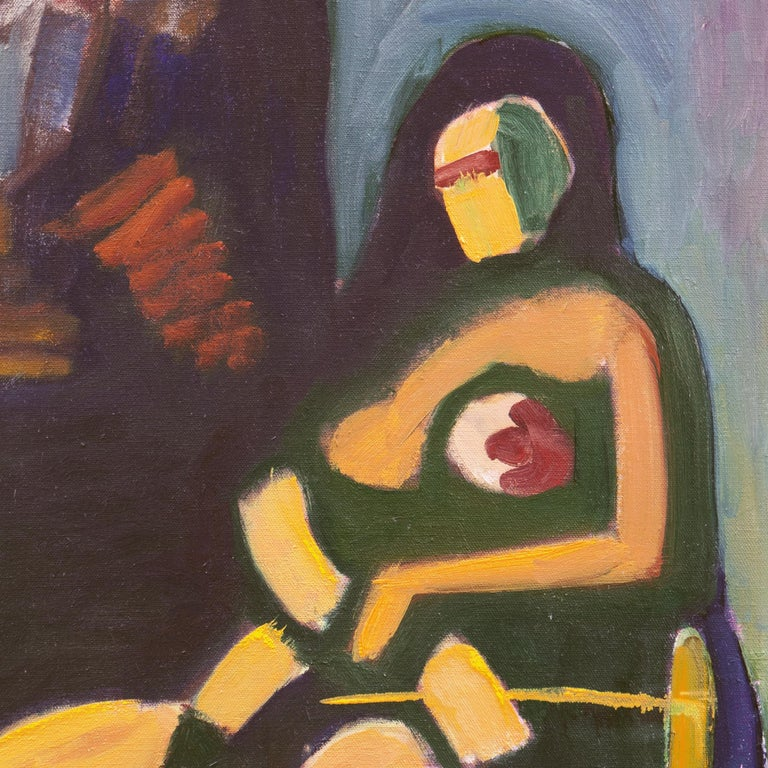 Woman in Abstract (Modernism, New York, Abstract Expressionism) - Painting by Angelo Ippolito