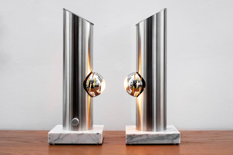 Angelo Lelii Attributed Table Lamps In Good Condition For Sale In Los Angeles, CA