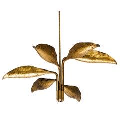 Angelo Lelii Chandelier in Brass for Arredoluce