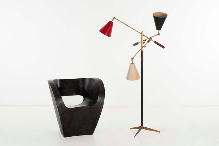 Angelo Lelii Early Three-Arm Triennale Floor Lamp For Sale 4