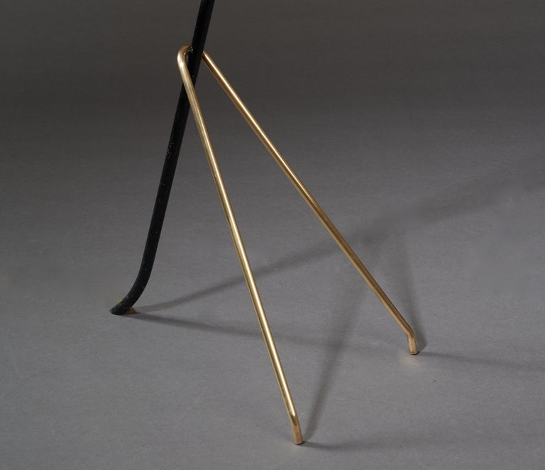 Angelo Lelii for Arredoluce Extendable Height Floor Lamp in Brass, Red Lacquer For Sale 9