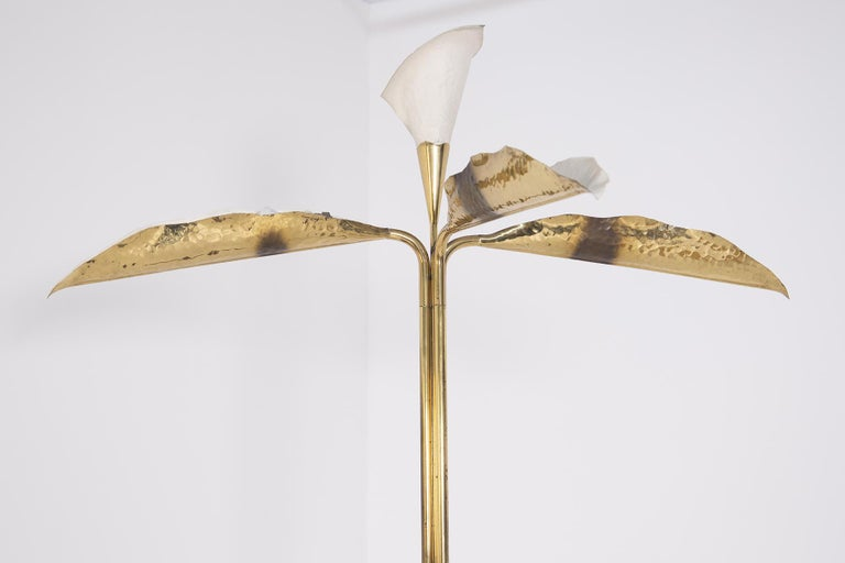 Mid-Century Modern Angelo Lelii for Arredoluce Floor Lamp in Brass and Marble For Sale