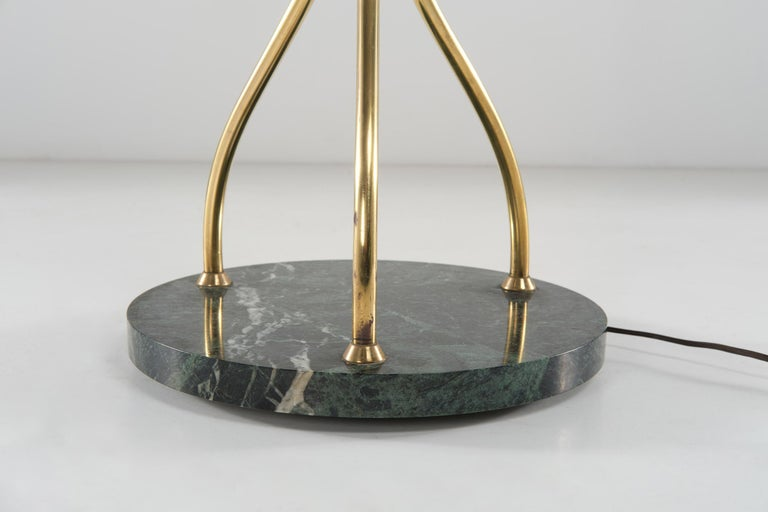 Angelo Lelii for Arredoluce Floor Lamp in Green Marble and Brass, 1960 circa 4