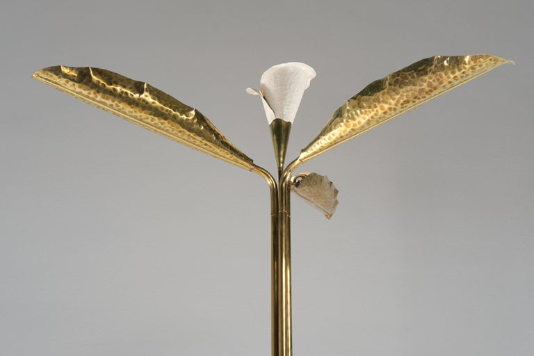 Mid-Century Modern Angelo Lelii for Arredoluce Floor Lamp in Green Marble and Brass, 1960 circa