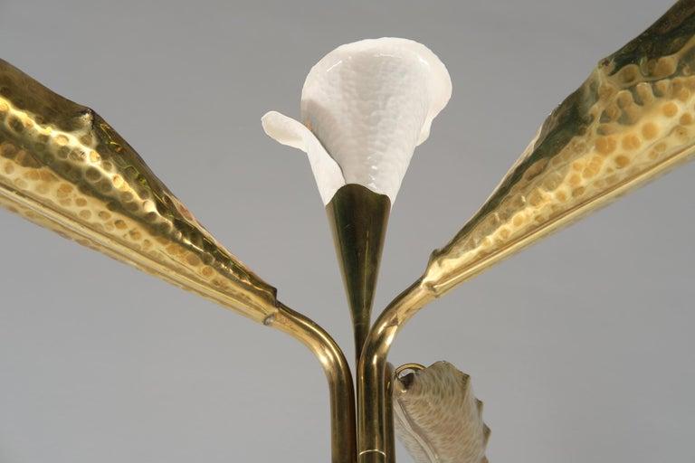 Italian Angelo Lelii for Arredoluce Floor Lamp in Green Marble and Brass, 1960 circa