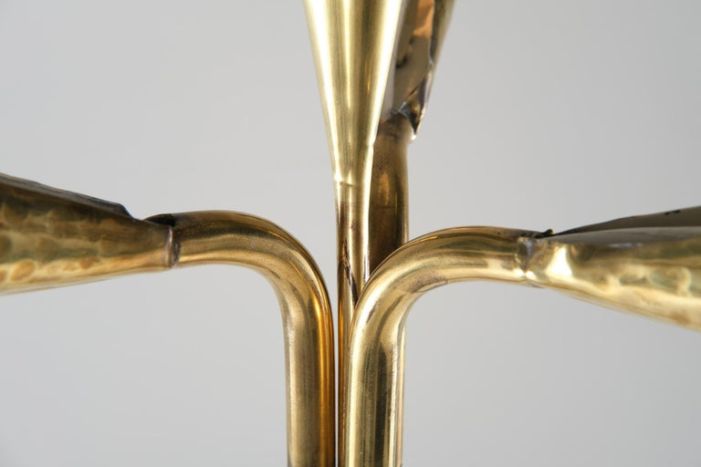 Metal Angelo Lelii for Arredoluce Floor Lamp in Green Marble and Brass, 1960 circa