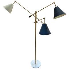 Angelo Lelii for Arredoluce Original Rare Triennale Floor Lamp