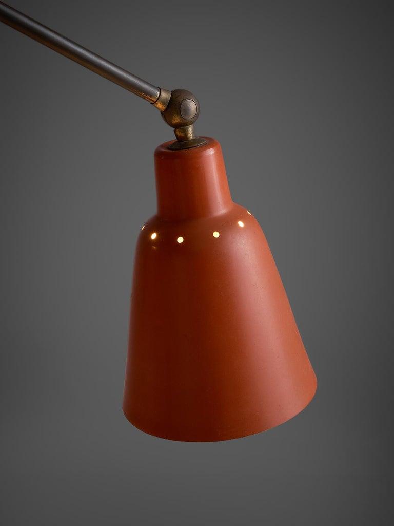 Mid-20th Century Angelo Lelii for Arredoluce Three Armed Floor Lamp For Sale