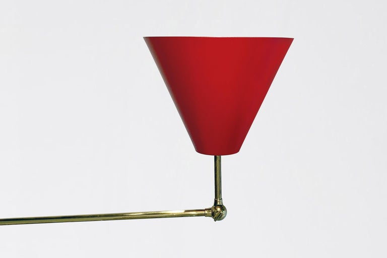 Mid-20th Century Angelo Lelii, Triennale Floor Lamp For Sale