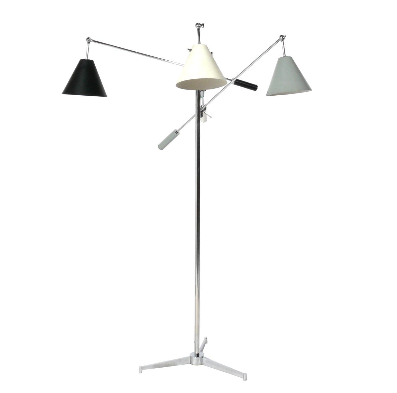 Angelo Lelii Triennale Floor Lamp, Signed Arredoluce