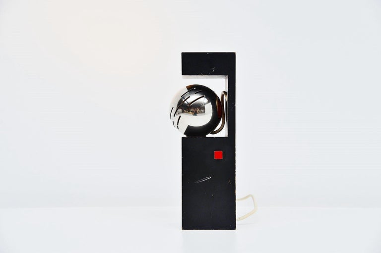 Mid-Century Modern Angelo Lelli Arredoluce Eye Spot Table Lamp, Italy, 1960 For Sale