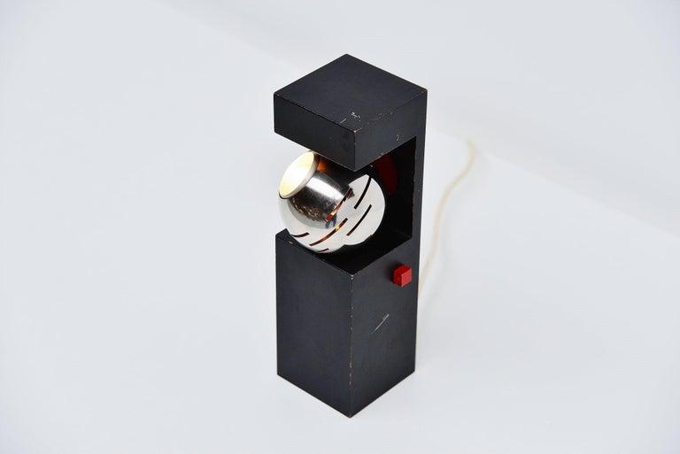 Mid-20th Century Angelo Lelli Arredoluce Eye Spot Table Lamp, Italy, 1960 For Sale