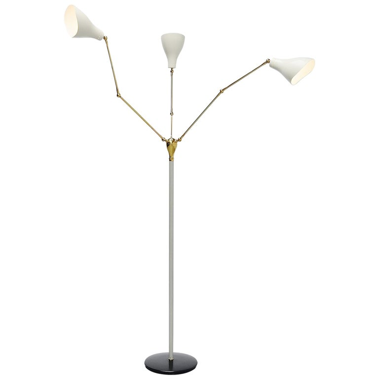 Angelo Lelli Arredoluce Floor Lamp, Italy, 1950 For Sale