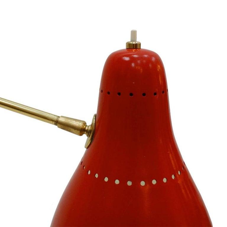Mid-20th Century Angelo Lelli Mid-Century Modern Brass Italian Floor Lamp For Sale