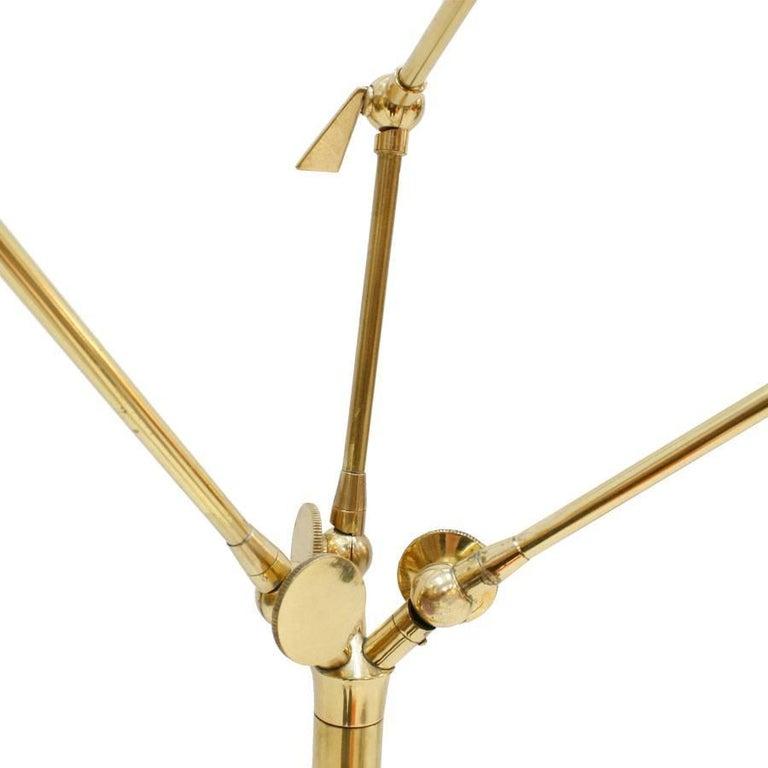 Metal Angelo Lelli Mid-Century Modern Brass Italian Floor Lamp For Sale