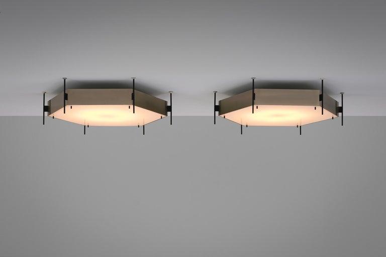 Angelo Lelli Model No. 12712 Lamps for Arredoluce, ca. 1958 1