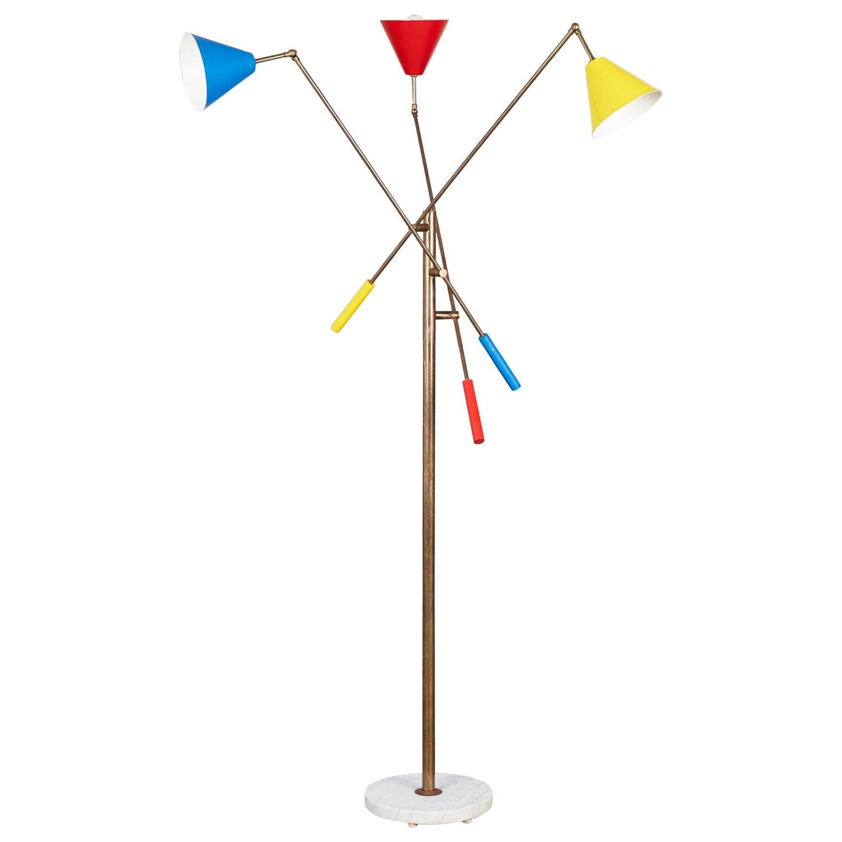 Angelo Lelli Style Triennale Floor Lamp