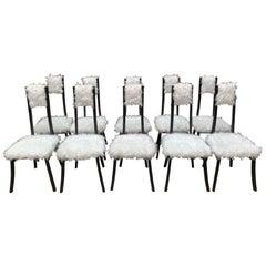 Angelo Mangiarotti 10 Chairs by Angelo Mangiarotti