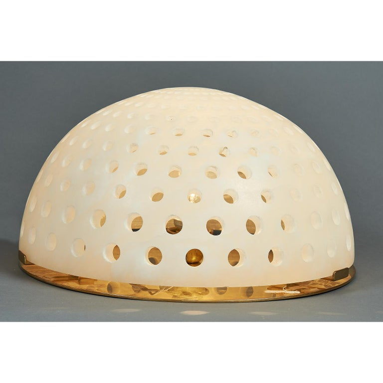 Modern Angelo Mangiarotti Alabaster Table Lamp, circa 1980 For Sale
