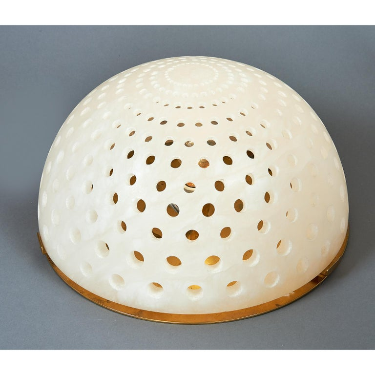 Angelo Mangiarotti Alabaster Table Lamp, circa 1980 In Excellent Condition For Sale In New York, NY