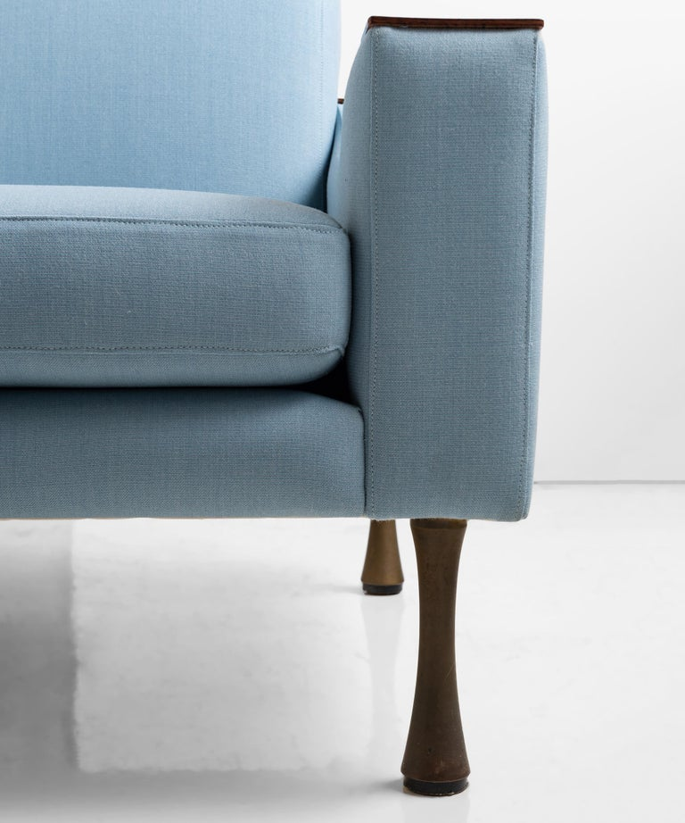 Italian Angelo Mangiarotti Armchair in Wool Blend from Maharam, Italy, circa 1960 For Sale