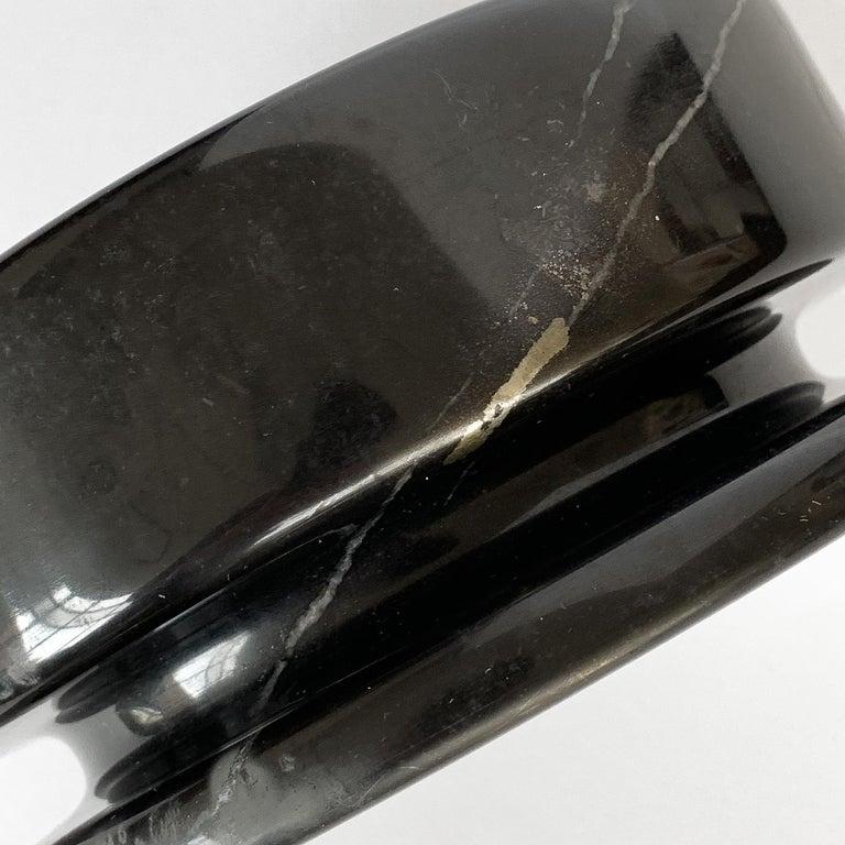 Angelo Mangiarotti Black Marble Ashtray for Knoll International For Sale 4