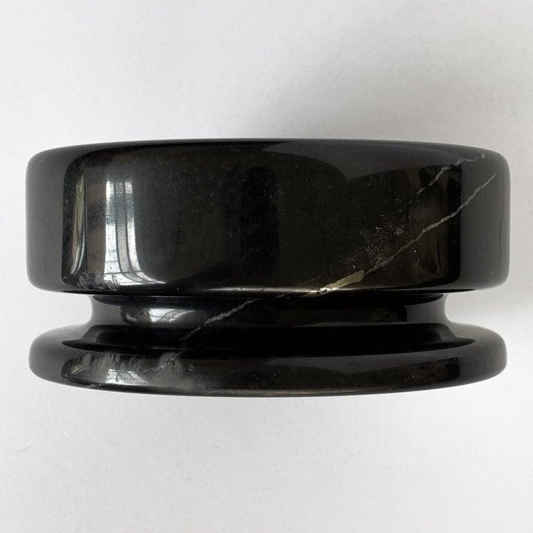 Angelo Mangiarotti Black Marble Ashtray for Knoll International For Sale 5
