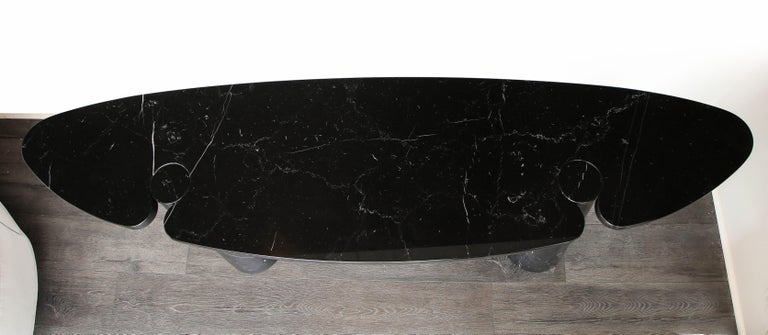 Angelo Mangiarotti Black Marquina Marble Console For Sale 1