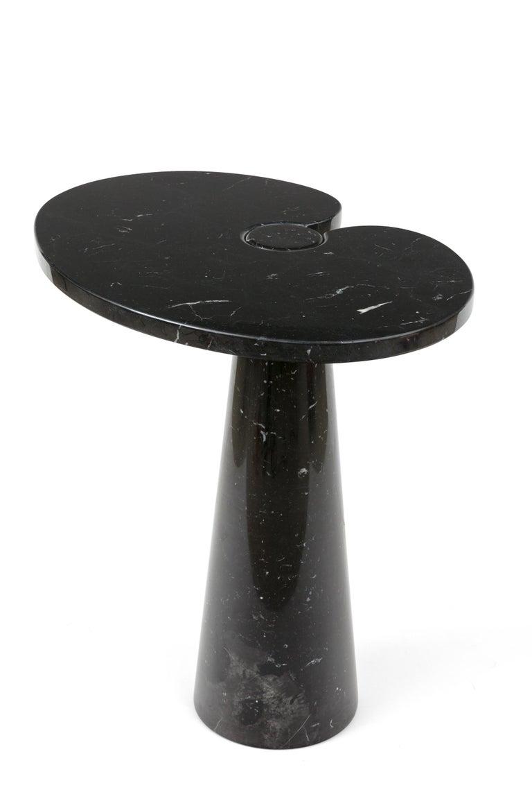 Mid-Century Modern Angelo Mangiarotti Black Marquina Marble