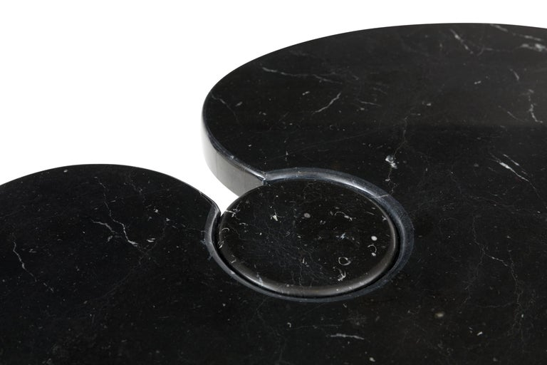 Late 20th Century Angelo Mangiarotti Black Marquina Marble