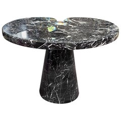 Angelo Mangiarotti Black Marquina Marble Side Table from 'Eros' Series, 1971