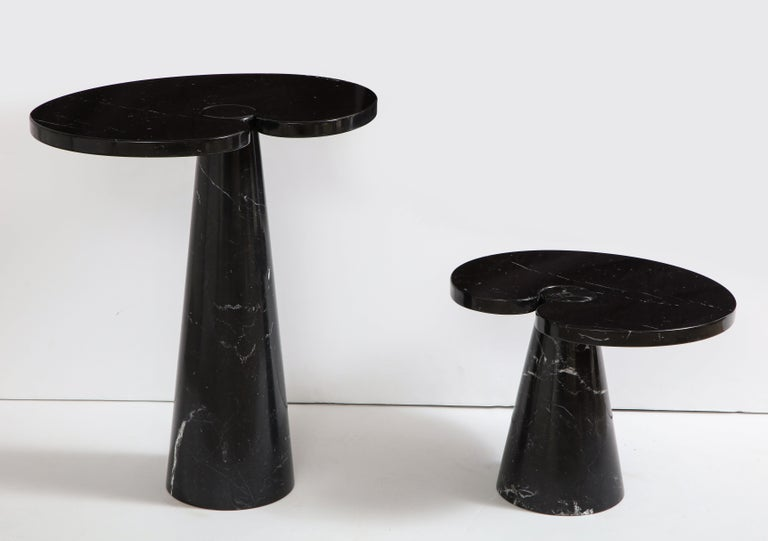 Polished Angelo Mangiarotti Black Marquina Marble Side Table from 'Eros' Series For Sale