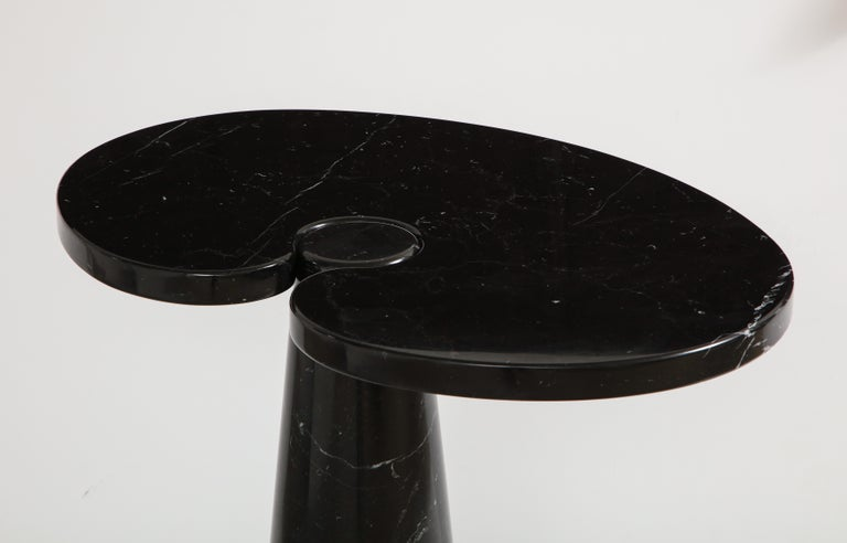 Italian Angelo Mangiarotti Black Marquina Marble Tall Side Table from 'Eros' Series For Sale