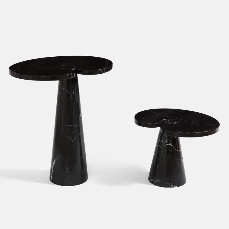 Angelo Mangiarotti Black Marquina Marble Tall Side Table from 'Eros' Series In Good Condition For Sale In New York, NY