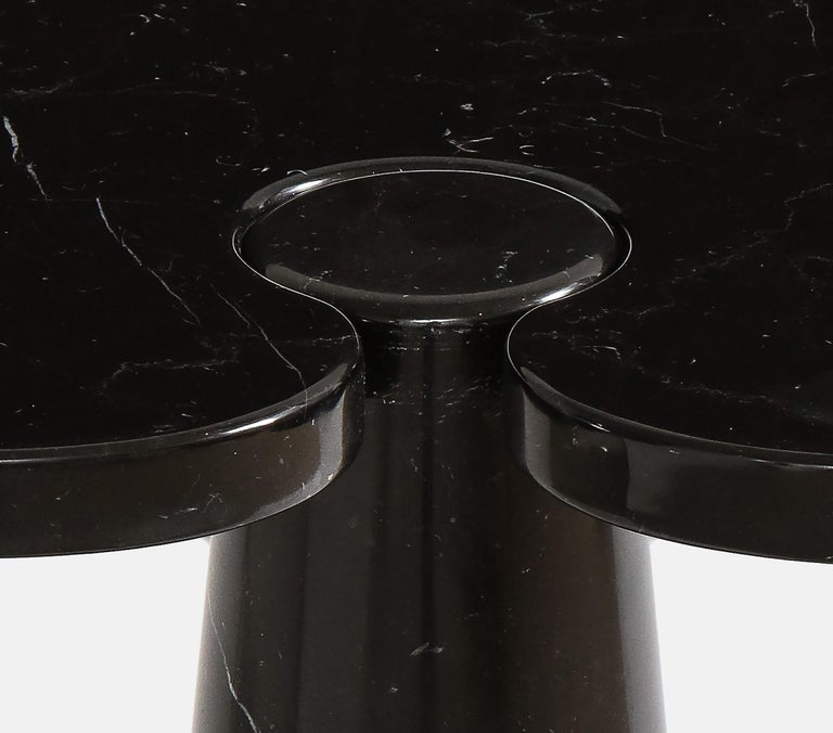 Polished Angelo Mangiarotti Black Marquina Marble Tall Side Table from 'Eros' Series For Sale