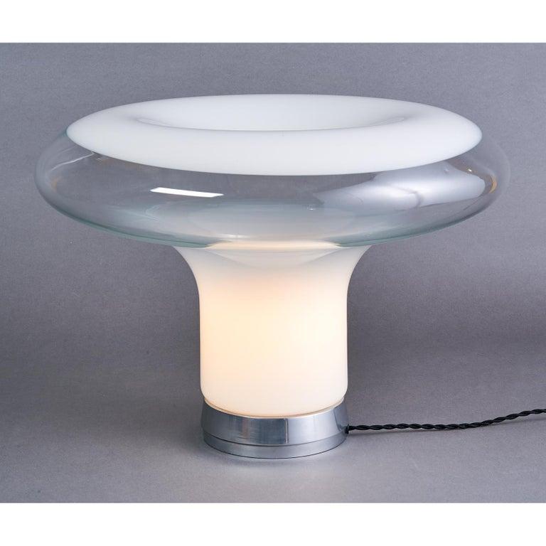 Mid-Century Modern Angelo Mangiarotti Blown Glass Table Lamp, circa 1967 For Sale