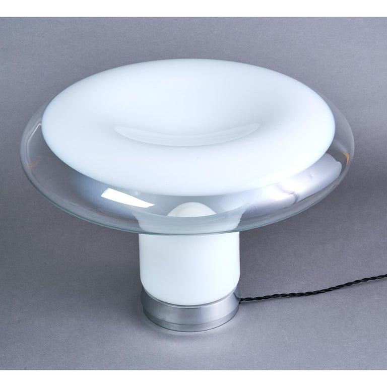 Italian Angelo Mangiarotti Blown Glass Table Lamp, circa 1967 For Sale