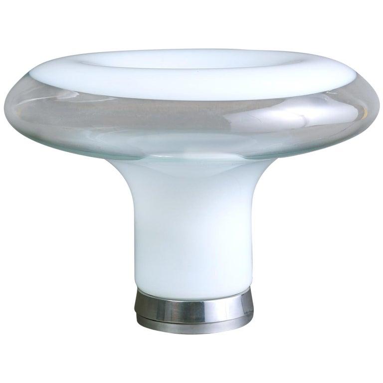 Angelo Mangiarotti Blown Glass Table Lamp, circa 1967 For Sale