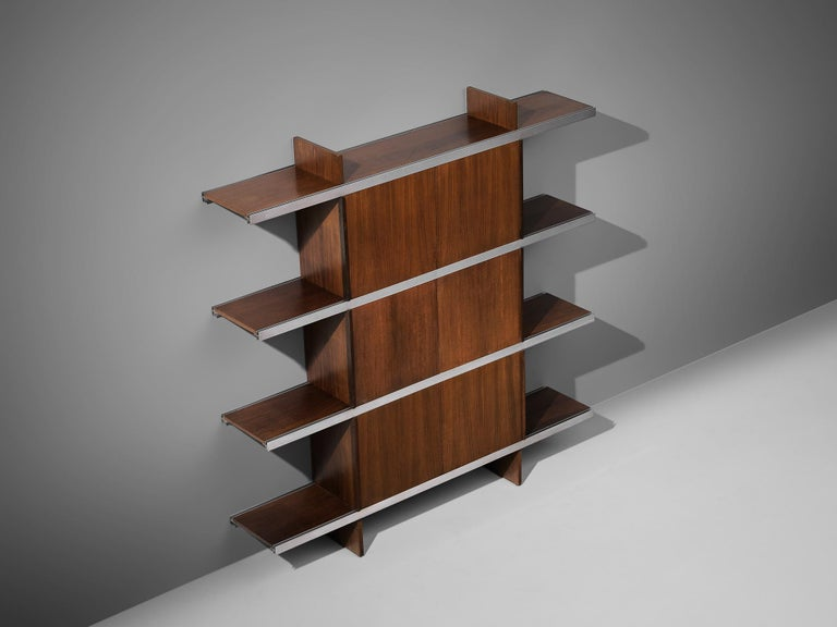 Angelo Mangiarotti Cabinet in Wood and Aluminium For Sale 3