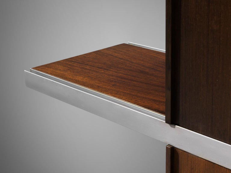 Angelo Mangiarotti Cabinet in Wood and Aluminium For Sale 5