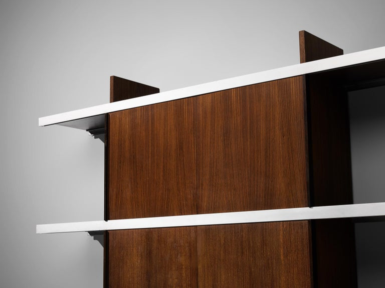 Angelo Mangiarotti Cabinet in Wood and Aluminium For Sale 1