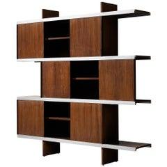 Angelo Mangiarotti Cabinet in Wood and Aluminium