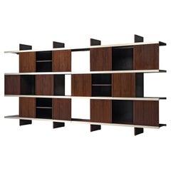 Angelo Mangiarotti Cabinets in Wood and Aluminium