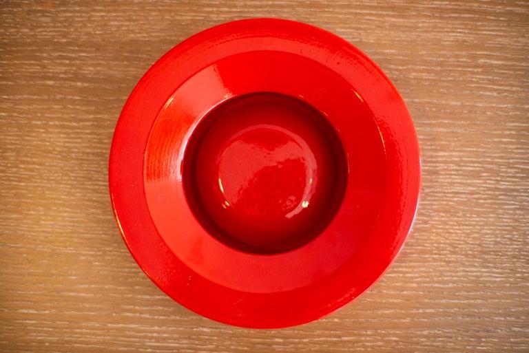 Angelo Mangiarotti Ceramic Ashtray In Good Condition For Sale In Los Angeles, CA