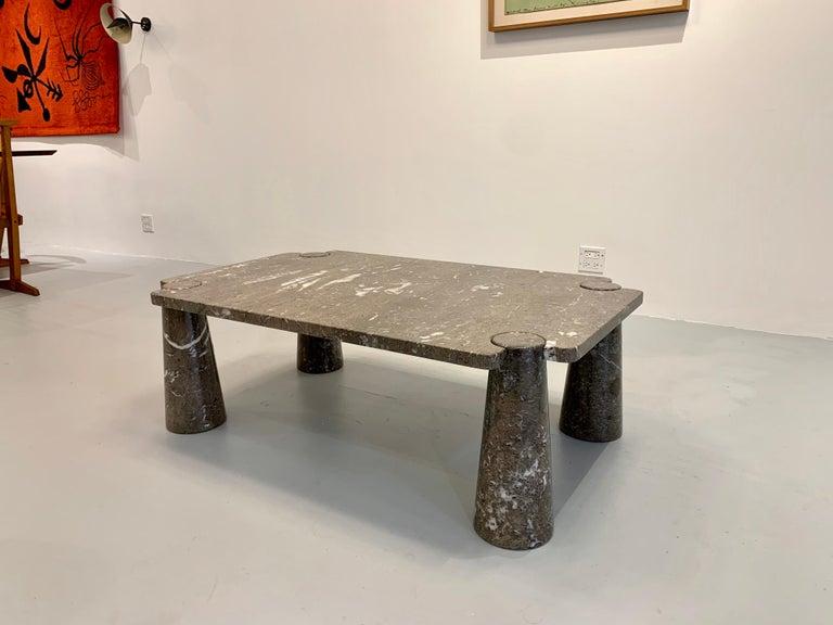 Mid-Century Modern Angelo Mangiarotti Coffee Table, 1970s For Sale