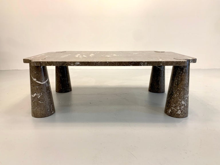 Marble Angelo Mangiarotti Coffee Table, 1970s For Sale