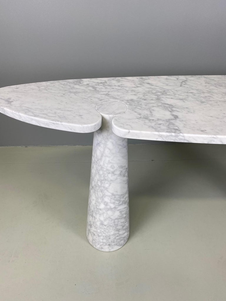 Italian Angelo Mangiarotti Console Table Eros Carrara Marble