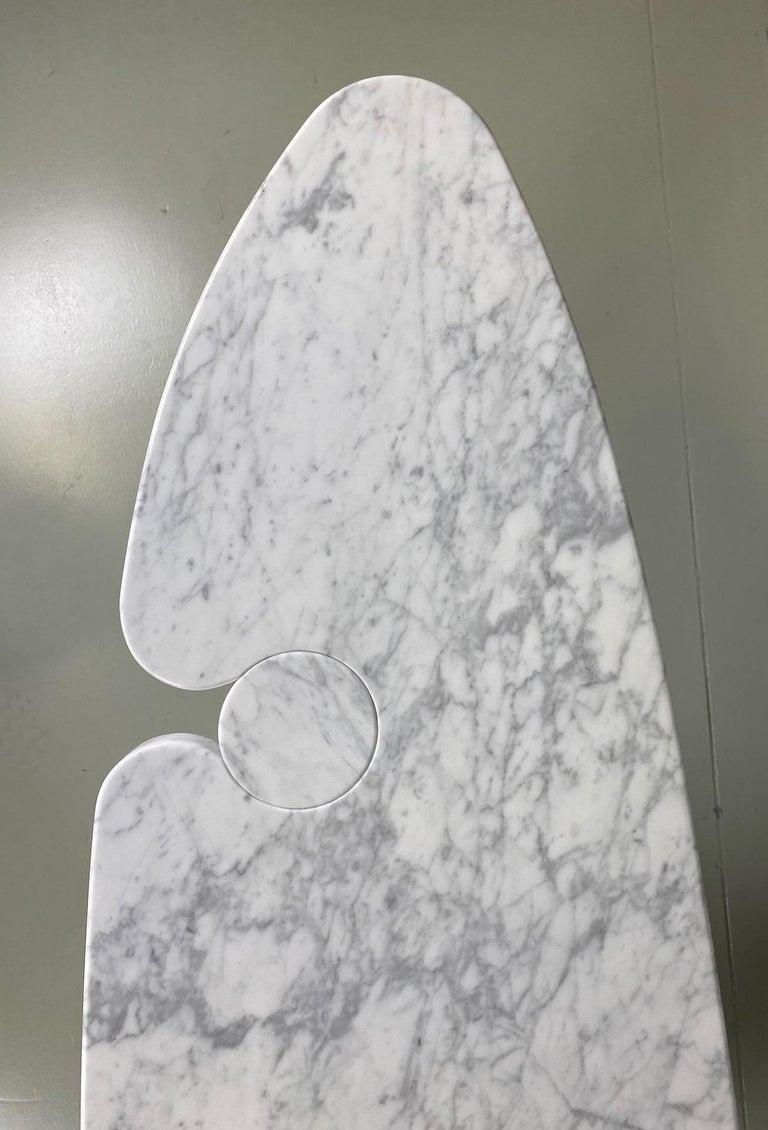 Angelo Mangiarotti Console Table Eros Carrara Marble In Excellent Condition In Rovereta, SM